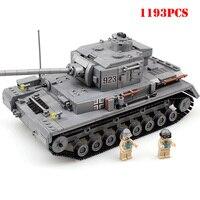 Military Weapon Building Blocks DIY Panzer War Tank Compatible Legoe Army World War Bricks Educational Toys For Child Xmas Gift