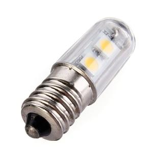 Image 3 - E14 스크류베이스 led 냉장고 램프 전구 1 w 220 v ac 7 leds smd 5050 ampoule led 냉장고 화이트 따뜻한 화이트 홈 1pc