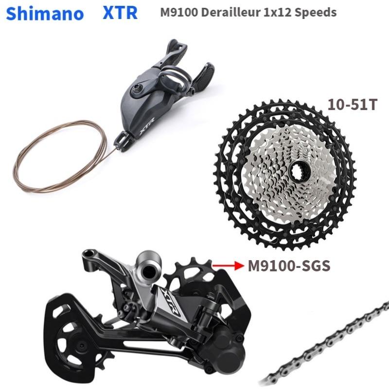 Shimano XTR M9100 12 Speed 1x12 Groupset Shifter Lever Rear Derailleur SGS Cassette 12 Speed Chain