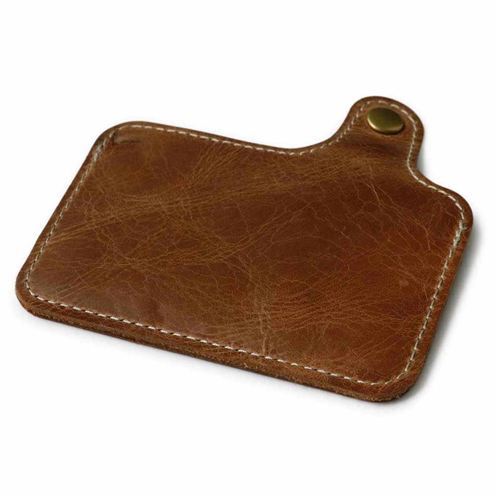 Marrom Titular do Cartão de Crédito carteira de Venda Quente Magro Dos Homens Mulher Pequena Mini Bolsa Carteira ID Caso Bolsa Saco PU bolsa em Couro Bolsa