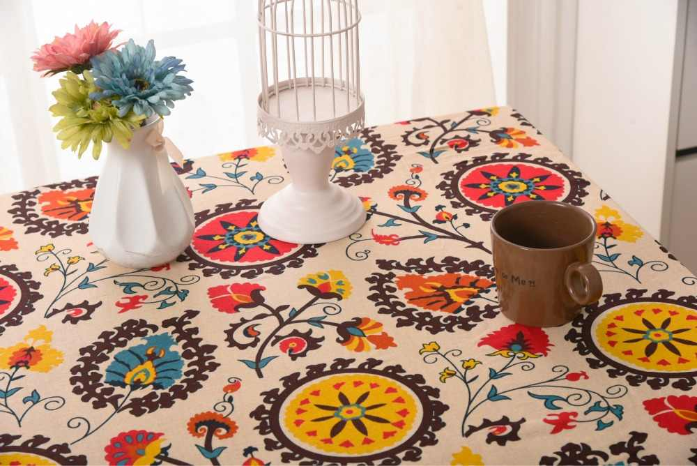 Free shipping high quality special price  linen  Mediterranean style tablecloth table cloth for home/dining room 140*180cm