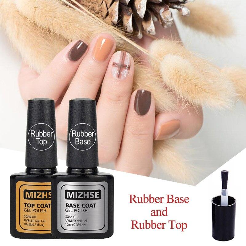 MIZHSE Гель лак УФ гель грунтовка для ногтей резиновая основа верхнее покрытие долговечное без протирания верхняя гелевая краска УФ гель для ногтей наборы|gel nail polish|no wipegel varnish | АлиЭкспресс