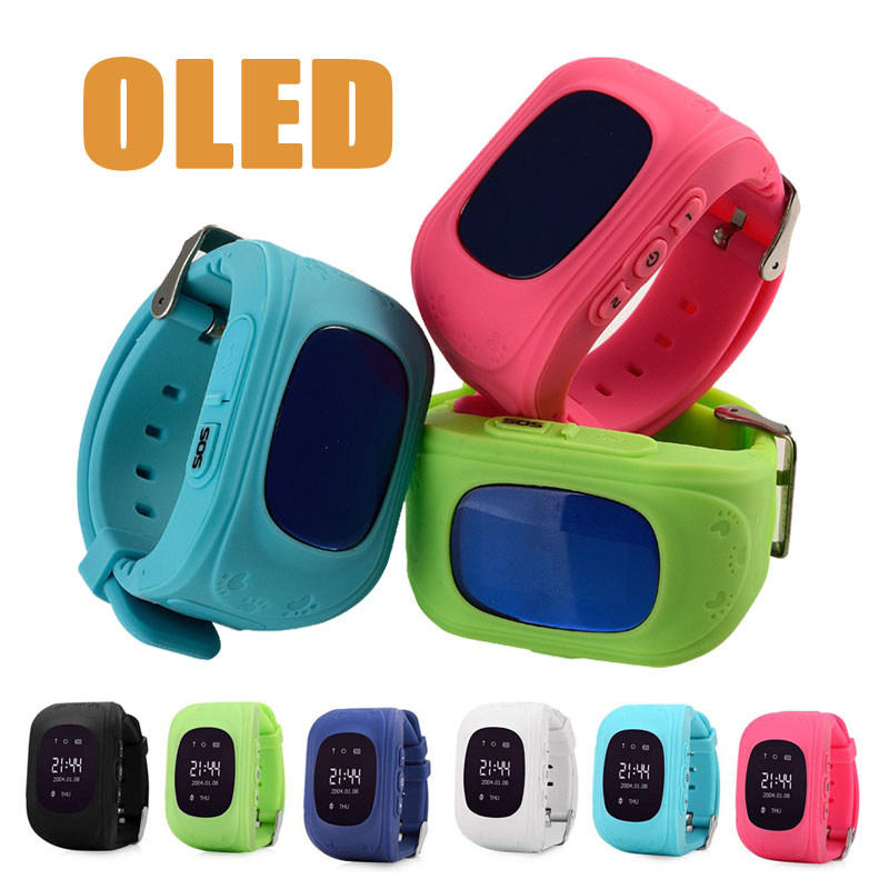 OLED Q50 GPS Kids Watches Baby Smart Watch for Children SOS Call Location Finder Locator Tracker Anti Lost Monitor Smartwatch