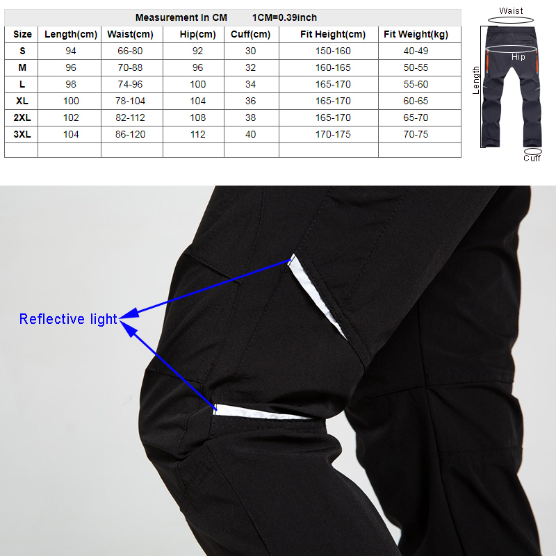 AD181 Quick dry pants size 800
