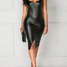 Сексуальное летнее женское платье черное однотонное облегающее платье бодикон без рукавов Клубная одежда с v-образным вырезом вечернее короткое мини-платье