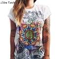 Летом Стиль Футболки Женщины Harajuku Граффити Напечатаны С Коротким Рукавом Регулярный Топ Camisetas Mujer #2415
