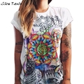 Summer Style T-Shirt Women Harajuku Graffiti Printed Short Sleeve Regular Top Camisetas Mujer #2415