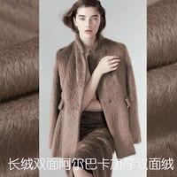 Coat Blazer Fabric Autumn/Winter Peruvian plush Double faced Alpaca Albaka Woolen Wool Fabrics 850gsm(Albaka 40% + wool 60%)
