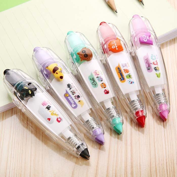 Kawaii Animals owl dog Press Type Decorative Correction Tape Diary Stationery School Supply DIY scrapbooking Stickers