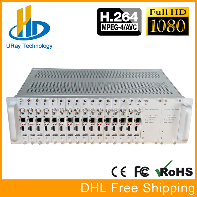 3U Rack 16 Channel H264 H.264 1080P HDMI CVBS AV Encoder 16 In 1 HDMI To IP Streaming Video Encoder IPTV RTMP UDP HLS RTSP ONVIF uray 3g 4g lte hd 3g sdi to ip streaming encoder h 265 h 264 rtmp rtsp udp hls 1080p encoder h265 h264 support fdd tdd for live