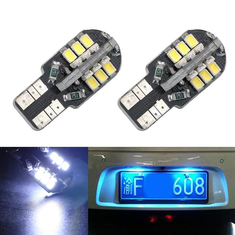 2X Car Led Error Free T10 3020 SMD Lamp 12V License Plate Lights For Nissan Juke Micra III (K12) Micra IV (K13) Note (E11)