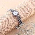 100% de Plata de ley 925 de la Mujer de Cuarzo Reloj Thail Plata Reloj Pulsera de Las Mujeres Reloj Clásico de Regalos para La Señora