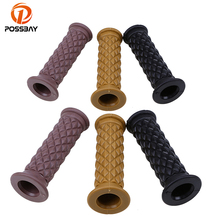 POSSBAY 2pcs 22/25 mm Motorcycle Handlebar Grips Covers High Density for Harley Honda Handlebars Anti-slip Cycling Grip Cover