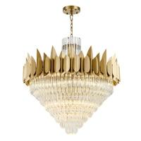New round crystal chandelier living room golden LED lights luxury hotel engineering decorative lights|Chandeliers|   -