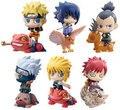 6шт/набор ПВХ 6см милые Наруто аниме фигурки Коллекция детских игрушек Naruto Gaara Sasuke Модели с животными для детей Brinquedos