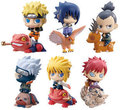 6pcs/Set PVC 6cm Cute Naruto Anime Action Figures Children Toys Collection Naruto Gaara Sasuke Model with Animal Kids Brinquedos