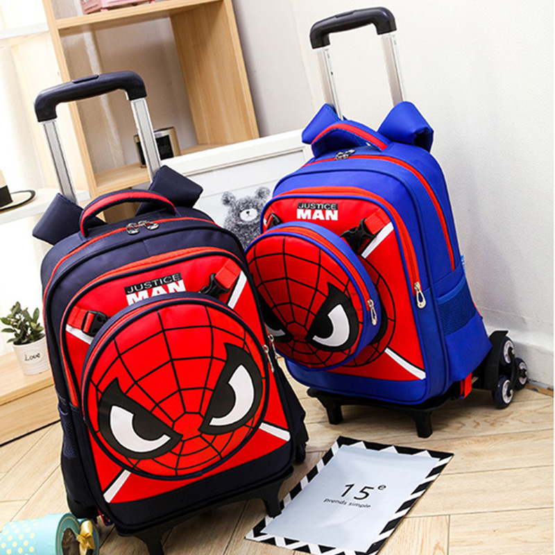 HOT Climb the stairs luggage child school bag students rolling suitcase Children Spiderman backpack cartoon travel trolley case 2pcs set kids luggage child pencil case school bag students boy s girls climb stairs rolling suitcase children travel backpack