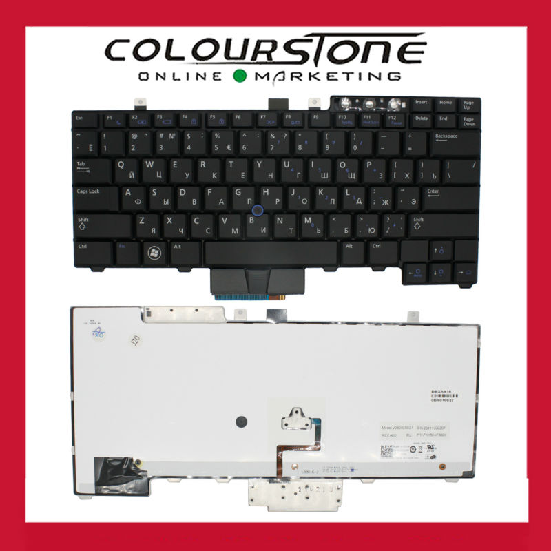 Натуральная Русский Клавиатура для ноутбука Dell E6400 E6410 E5500 E5510 E6500 E6510 M2400 M4400 RU черный с подсветкой клавиатуры