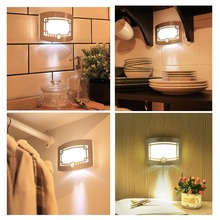 Motion Sensor Activated Wall Light LED Wall Lamp Wireless Stick Anywhere Battery Nightlight for Closet Hallway Pathway Staircase