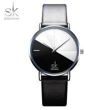 Shengke Relogio Feminino Women Watches Girl Quartz Watch Casual Leather Ladies Dress Watches Women Clock Montre Femme