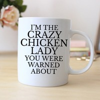 Funny Chicken Lady Gift Funny Saying Coffee Mugs Ceramic Tea Cups Home Decal Kitchen Friend Gifts
