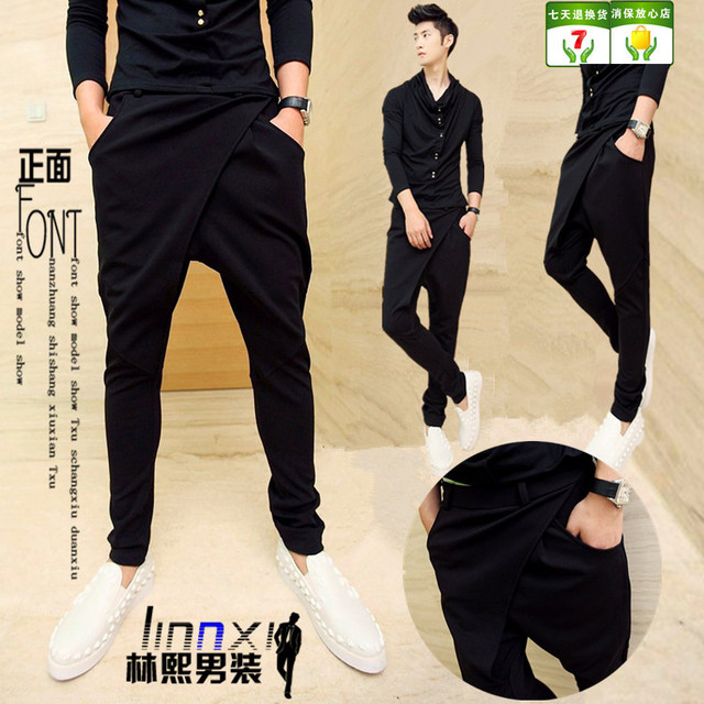 27-44!!2018 Men's harem pants  summer casual hiphop hanging crotch male taper pants