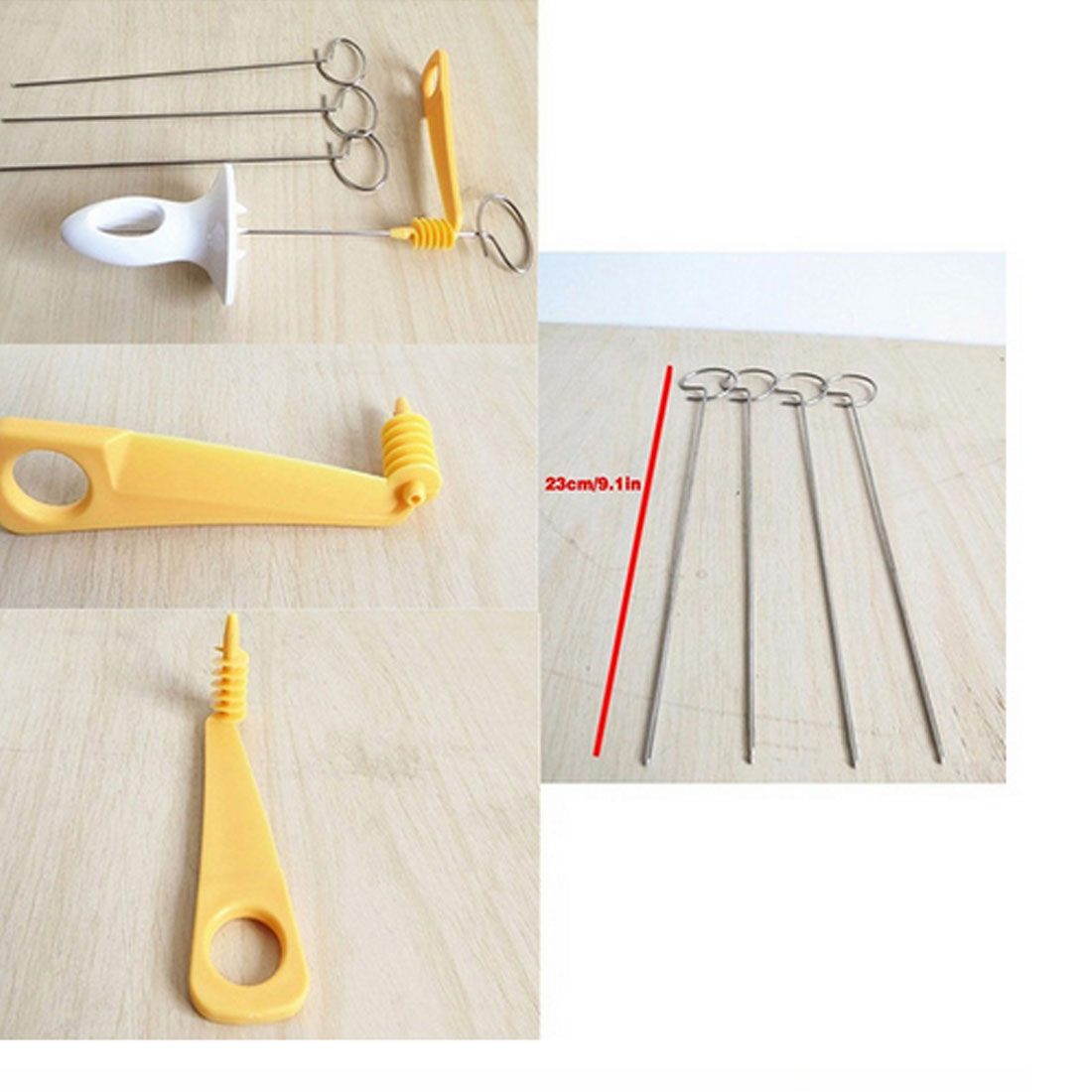 New Kitchen Accessories Tornado Potato Spiral Cutter Slicer Home Potato Making Twist Shredder Cooking Tools