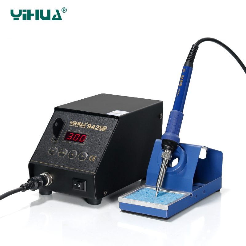 Lead Free Import Heater YIHUA 942 ESD  Digital Soldering Station  Repairing Card Locked Soldering Iron StationLead Free Import Heater YIHUA 942 ESD  Digital Soldering Station  Repairing Card Locked Soldering Iron Station