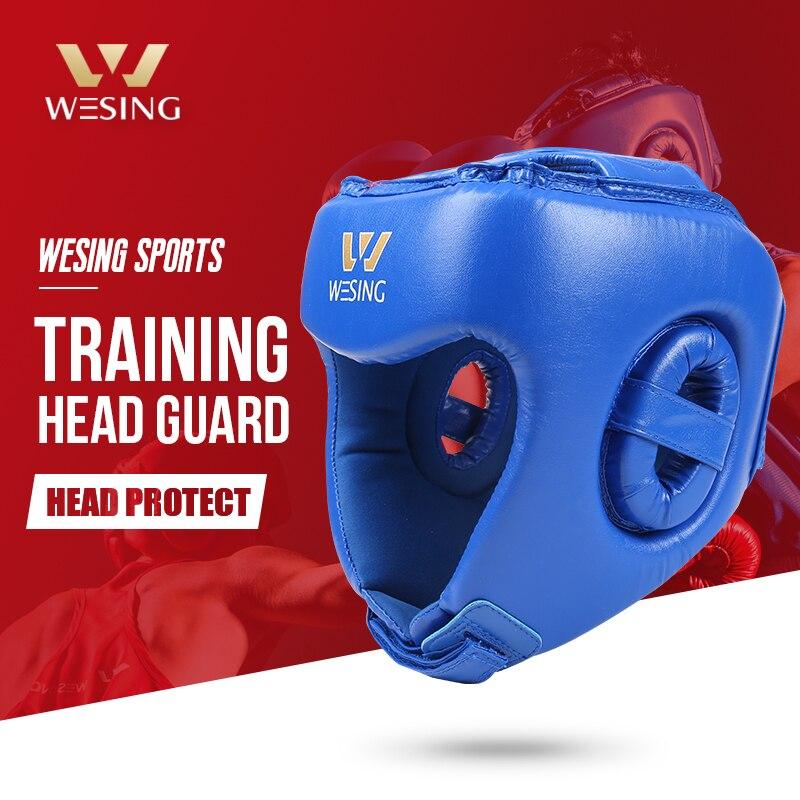 Wesing боксерский шлем Sanda тренировочный головной убор для бокса Муай головной убор тайский шлем для кикбоксинга защита головы