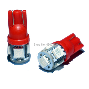 Image 4 - KTSCAR 100 unids/lote al por mayor luz led COCHE T10 W5W 194 5 LED SMD 5050 Luz de cuña lámpara bombillas exteriores de las luces 12V auto