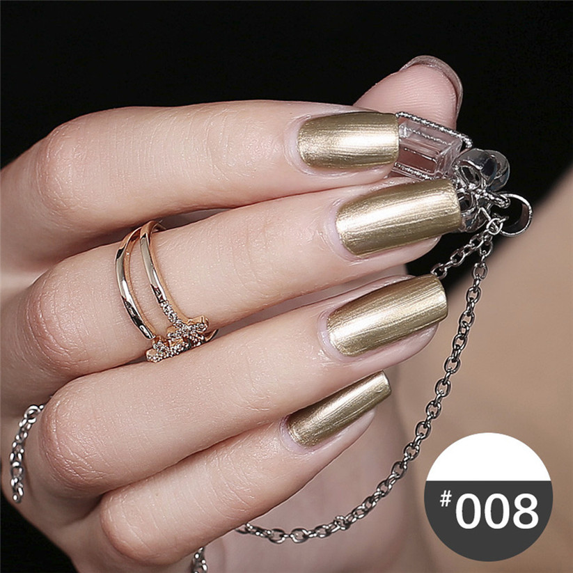 OutTop Nail Polish Mirror Nail Polish Plating Silver Paste Metal Color Stainless Steel td0111@19 dropship