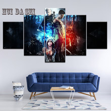 Printed Modular Picture Kids Room Home Decoration 5 Panel Devil May Cry 5 Game Frame Wall Poster Popular Art Canvas Painting(China)