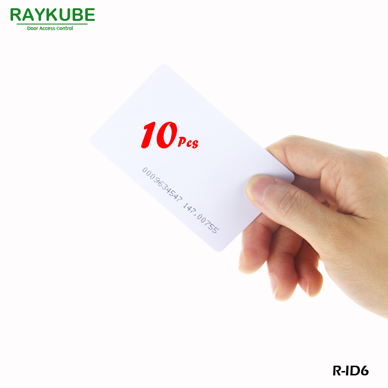 RAYKUBE R-ID6 10Pcs/Lot 125Khz RFID ID Card 0.8mm For Access Control And Time Clock Use