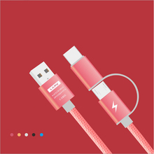 100pcs 1M  2 in 1 Micro USB Cable Fast Charger Charging for Huawei /Android iph