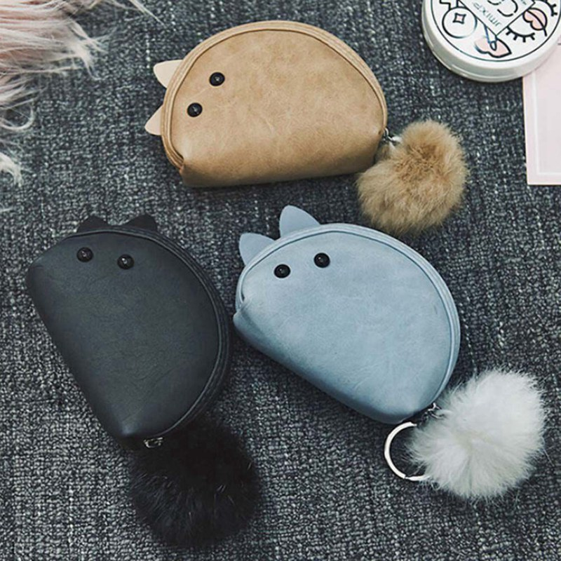 Women Cute Mouse Mini Coin Purses Female Zipper Small Wallet Girls Change Purse Money Bags Students Casual Wallet pacgoth creative pvc waterproof cute carton candy color purse dessert donuts summer sweet hearts zipper coin purses money bag
