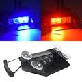 Новый автомобиль укладка 4 светодиодный красные, синие цвет желтый, синий; размеры 34–43 для полицейской машины стробоскоп светильник для под...