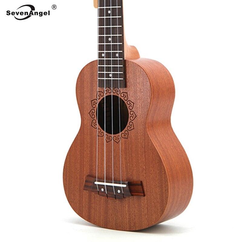 SevenAngel 21inch Soprano Ukulele 4  Strings Mini Guitar Sapele 15 Frets Ukelele Closed Knob Wholesale Price