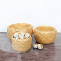 Creative Bamboo Restaurant Living Room Snack Fruit Basket Basket Tea Tea Storage Box Desktop Storage Basket