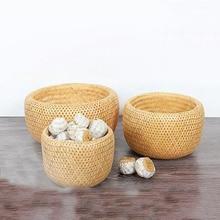 Creative Bamboo Restaurant storage box Living Room Snack Fruit Basket Tea Storage Box Desktop