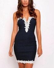 Sexy lady Floral Lace Party Dress 2019 New Fashion Women V-Neck Night Club Dresses Sleeveless Bodyon Dress Vestidos Plus Size plus contrast floral lace night dress