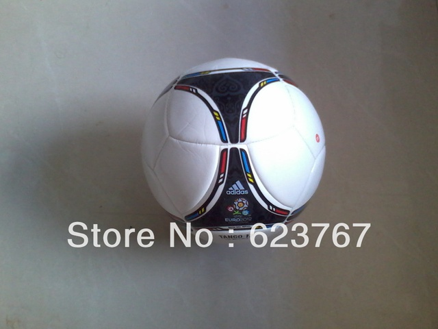 Free shipping 2013 newest high quality white machine stitched soccer