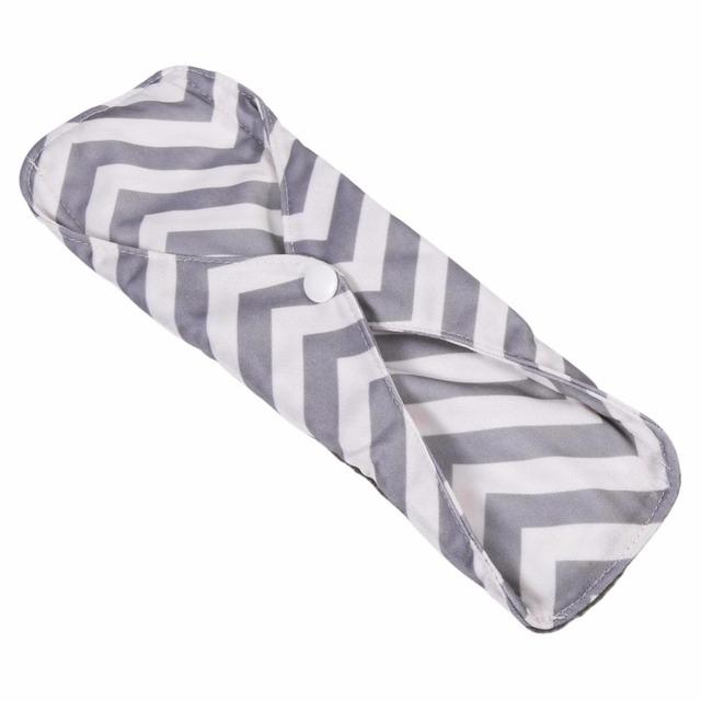 1PC 18 * 25cm Menstrual Pads Reusable 5 Colors Charcoal Bamboo Cloth Menstrual Pads Washable Sanitary Towel Panty Maternity Pads