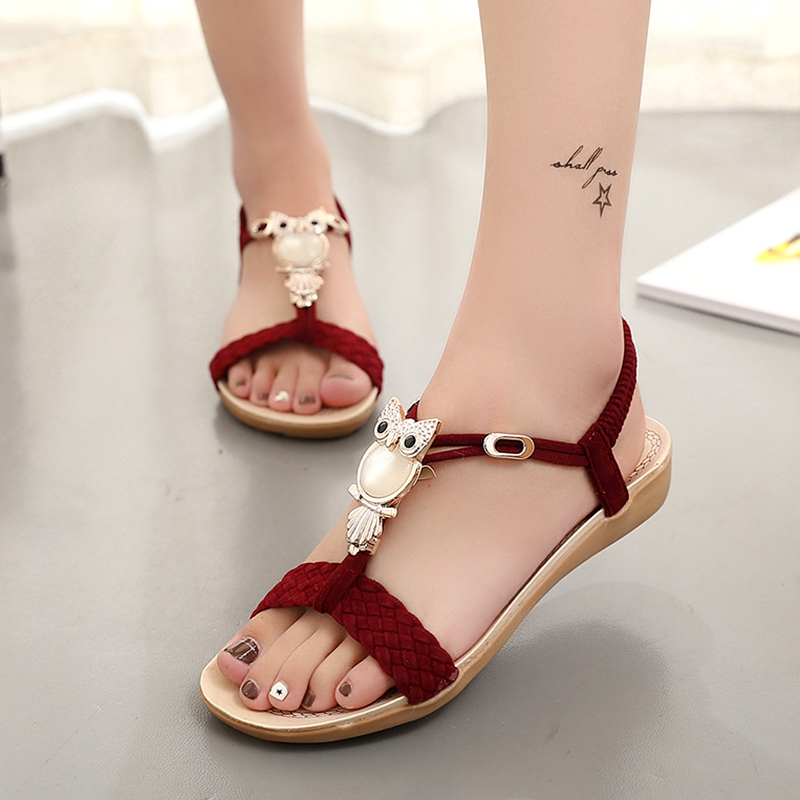Women Sandals Summer Bohemia Beach Shoes Women Gladiator Sandals Ladies Fashion Flats Summer Female Shoes Sandalias Mujer free shipping candy color women garden shoes breathable women beach shoes hsa21