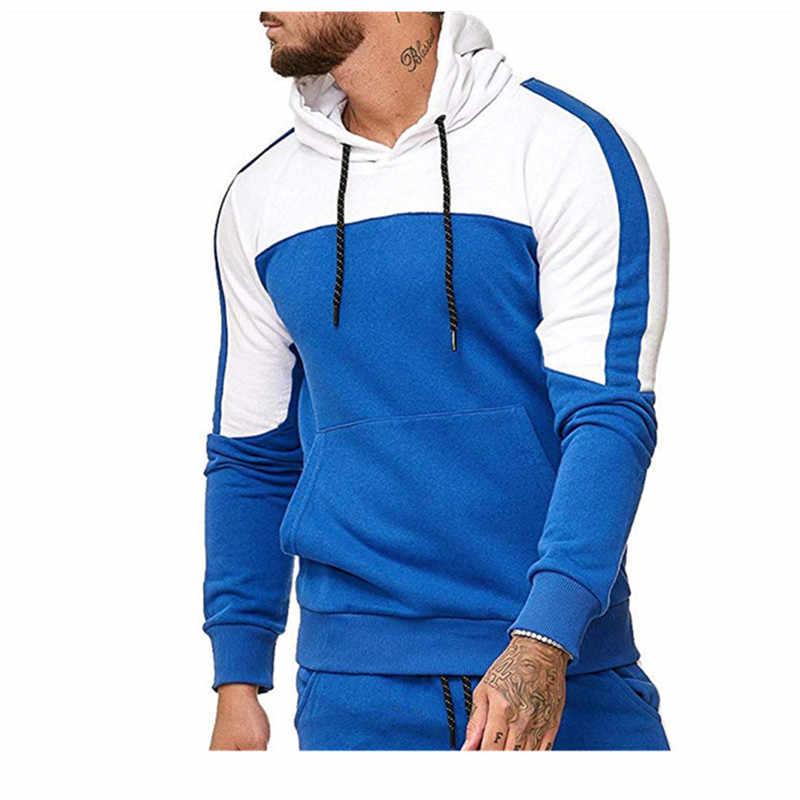 2019 Lente Herfst Hoodies Slim Hoody Heren Jassen Man Casual Jogging recreatieve hoodie Mannen