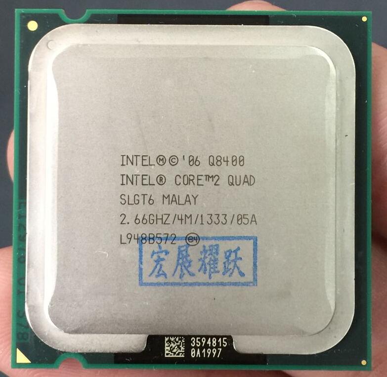 PC computador Intel Processador Quad Q8400 Core2 (4 3M Cache, 2.66 GHz, 1333 MHz FSB) LGA775 CPU de Desktop