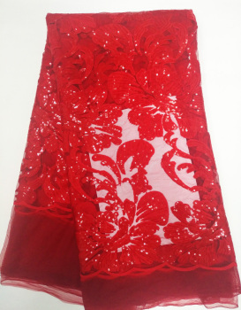 Red colour African Tulle Lace Fabric for Party Dress,2016 New Arrival African Net Mesh Lace Fabric Wholesale and Retail JL91