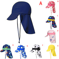 1pc Sommer Cartoon Baby Kinder Schwimmen Kappe Sonnenschutz Strand Sonne Hüte Wasserdicht für Jungen Mädchen Kinder Outdoor Hut