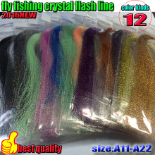 HOT fly fishing crystal flash line 12color  lure tying material thread 12bag/lot length is 30CM