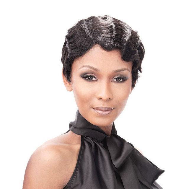 Short Wavy Black Wig African Afro Synthetic Wigs For Black Women Cheap Short Wigs For Women Natural Female Wig Cosplay Hairs