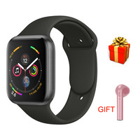 IWO 8 44mm Bluetooth Smart Watch Series 4 1:1 SmartWatch Case for iOS Android Heart Rate ECG Pedometer PK P68 IWO 5 6 7